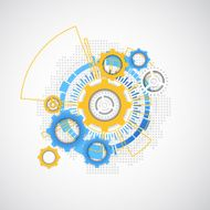 Abstract technology gears background N4