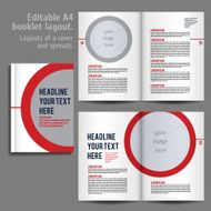 A4 booklet Layout Design Template with Cover