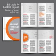 A4 booklet Layout Design Template with Cover N2