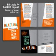 A4 booklet Layout Design Template with Cover N3