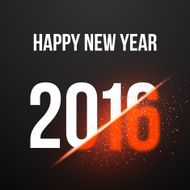 Happy New Year 2016 Explosion Poster Background
