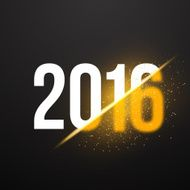 New Year 2016 Background with Explosion Effect Happy