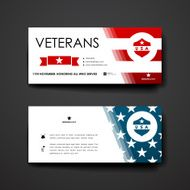 Set of modern design banner template in veterans day style N5