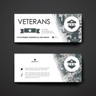Set of modern design banner template in veterans day style N6