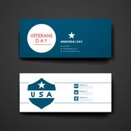 Set of modern design banner template in veterans day style N7