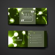 Set of modern design banner template in neon molecule structure