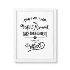 Quote typographical Background in the realistic square white frame N13