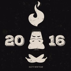 Design inspiration with symbol of 2016 year is monkey N16