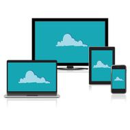 Cloud Computing concept background Vector illustration N2