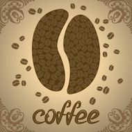 Vector illustration with coffee beans