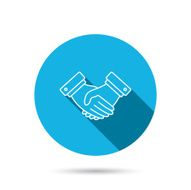 Handshake icon Deal agreement sign N4