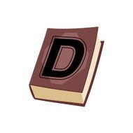 Letter D cover of book Old Edition with alphabetical icon