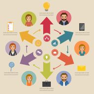 business people character infographic with icon N3