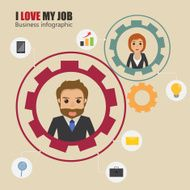business people character infographic with icon N4