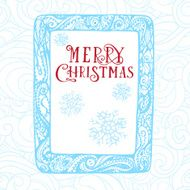 Christmas card hand drawn concept design in computer tablet background N2