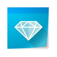 Sticky note icon with a diamond