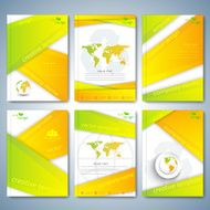 Modern set of brochures flyer booklet cover or annual report