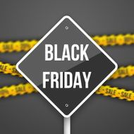 Black Friday Sale Sign with a Discount Blurred