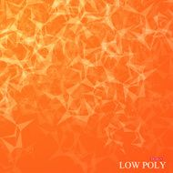 Polygonal Abstract background Low poly molecule and communication with connected