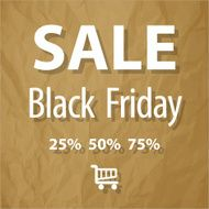SALE Black Friday symbol on a brown background