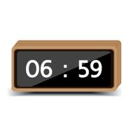 wood clock digital