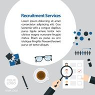 Flat Recruitment Services Advertising
