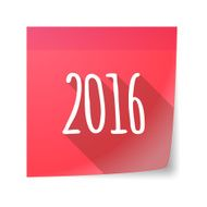 Sticky note icon with the number 2016