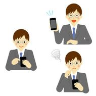 Business man using smart phone