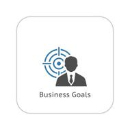 Business Goals Icon Flat Design N2