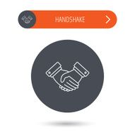 Handshake icon Deal agreement sign N6