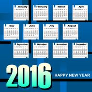 New Year monthly calendar