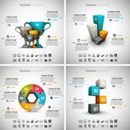 4 in 1 Business Infographics N3