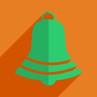 Flat icons modern design with shadow of Christmas bell