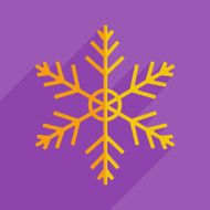 Flat icons modern design with shadow of snowflake