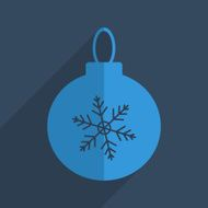 Flat icons modern design with shadow of Christmas ball
