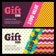 Vector creative gift card or voucher background template N2