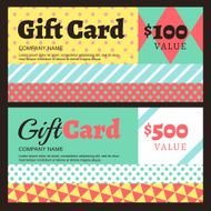 Vector creative gift card or voucher background template N3