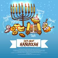 Hanukkah Infographics Set