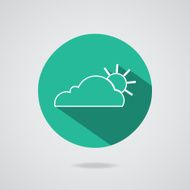 Abstract cloud icon Teal button