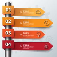 Design flat shadow step number banners graphic or website Vecto