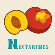N for nectarines