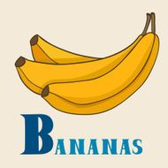 B for banans Vector Illustration hand-drawn style