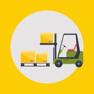 Warehouse icons logistic blank and transportation storage vecto N8