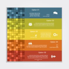 Infographic report template layout Vector illustration N21