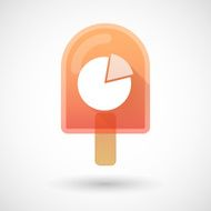 Ice cream icon with a pie chart