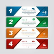 Infographic report template layout Vector illustration N25