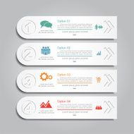 Infographic report template layout Vector illustration N28