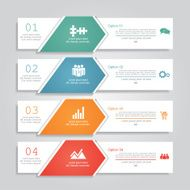 Infographic report template layout Vector illustration N29