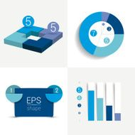 Info graphics elements Simply color editable Infographics