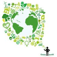 Vector icons green earth ecology concept